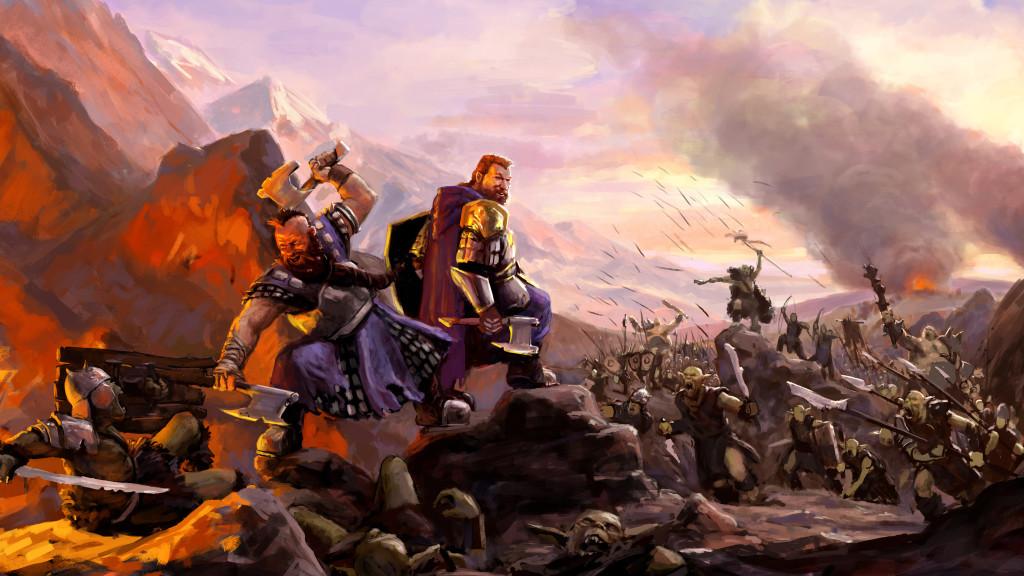 Tundil und Boindil mitt in einer Schlacht